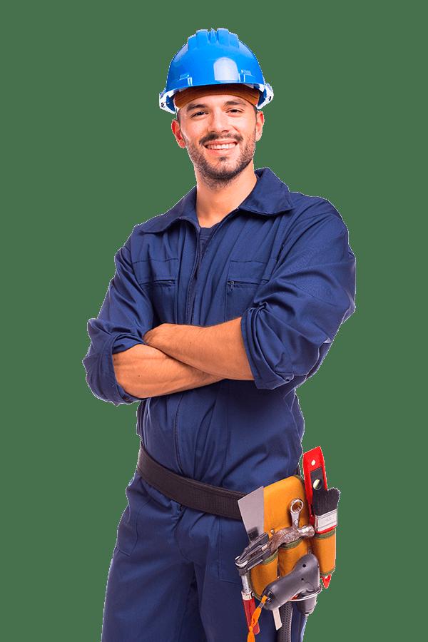 Trabalhador Sistemas Exaustão e Ventilação casa de Amaral